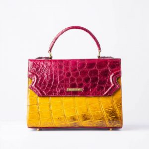 Large Classic Lisa in Genuine Crocodile