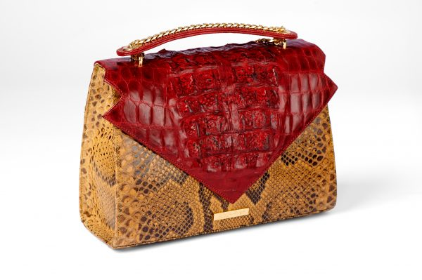 Alluring Abi in Crocodile and Python in Red & Banana Yellow
