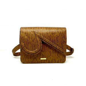 Katie in Brown Embossed Snake Leather