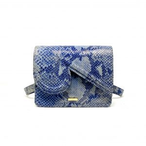 Katie in Pigeon Blue Embossed Snake Leather