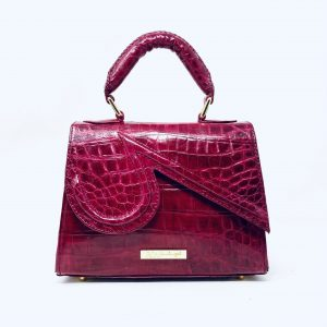 Mini Kristen in Fuchsia Crocodile skin (PREORDER)