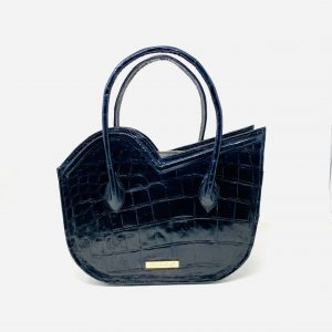 Nala Tote in Black Crocodile Skin