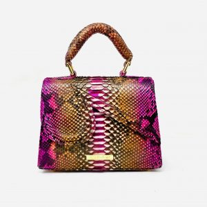 Mini Kristen in Exclusive Multicolored Python Skin